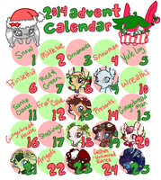Feathertail Advent Calendar 2014 [Closed] by CoffeeCupPup