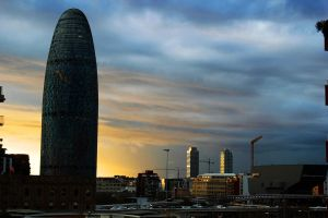 Torre Agbar, Barcelona by CiindyCore