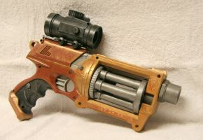Steampunk Nerf Maverick by JohnsonArms