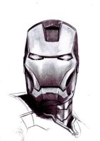 Iron Man sketch1 by DavidLuna