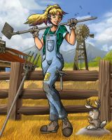 Commission: Farm Girl by MachSabre