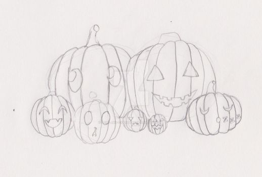 Sketchtober day 31- Pumpkin family by Love-And-Cyanide88
