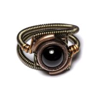 Steampunk Ring Black Onyx 2 by CatherinetteRings