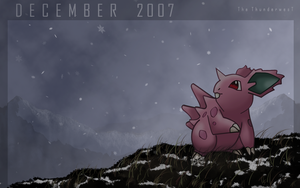 Nidoran, the december pokemon by Thunderwest