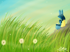 Lucario and shiz by CornedBeefHash-Tan