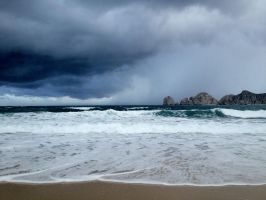 Caught by the rain clouds. by The-Great-Luigi