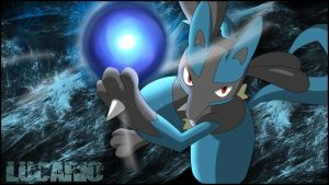 Coloring - Lucario Aurasphere by DlynK