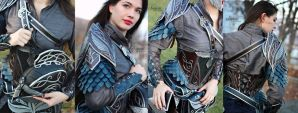 Female Elven Leather Armor set by Feral-Workshop