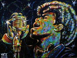 James Brown Painting by VanZanto