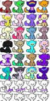 24 Adopts and 8 Customs (FINALLY!!!) by rustics