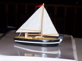 Boat on Perspex Sea by caffeine2