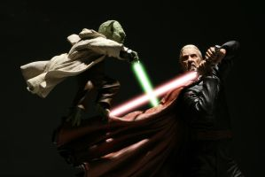 Yoda vs Dooku by DigitalPimp74