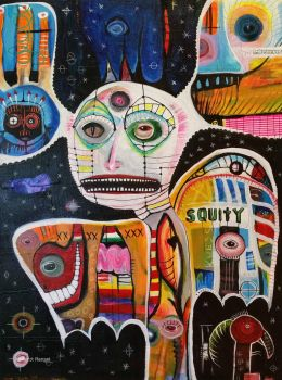 Outsider Art: Squity by bugatha1