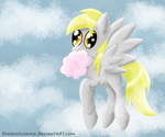 Derpy Sees Forever Through A Cotton Candy by DoodleSuovick