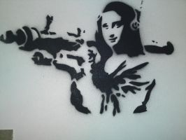 banksy mona lisa by karl-penguin