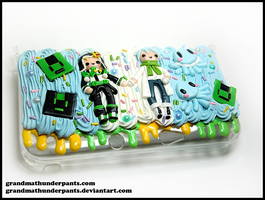 Noiz and Clear 3DSXL Case by GrandmaThunderpants