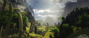 Skeleton Valley by 3DLandscapeArtist