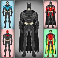 Batfamily - The Dark Knight Version by DraganD