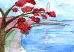 Cherry Blossoms on the Potomac by WaterCorey