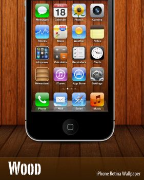 Wood - iPhone retina Wallpaper by infopower