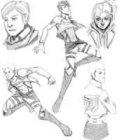 Shingeki sketches bleh by Mrakobulka