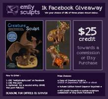 Facebook Giveaway - ENTRY DEADLINE TOMORROW!!! by emilySculpts