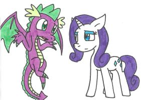 Spike Rarity chat by cmara