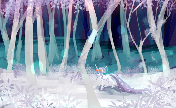 White forest MLP by AquaGalaxy