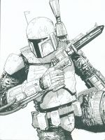 Boba Fett Hunted by boricuanart