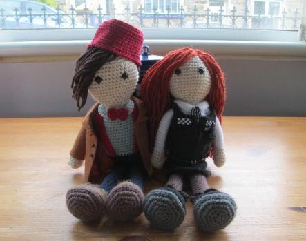 Doctor Who: Eleven and Amy by fourthimbles