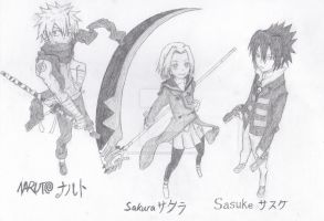 Naruto X Soul Eater by MUTE-sk3tch3s