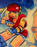 Roller Derby Baby: Jammer by Of-Red-And-Blue