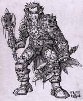 orc death knight lineart by rusel1989