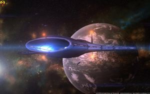 Asari Frigate by Euderion