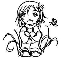 Chibi Girl and Butterfly by Nikarma