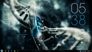 DNA Nano Tech (Rainmeter Desktop Rig 2) by ken005