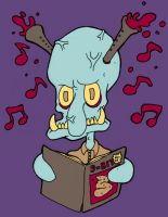 Squidward clarinet head by edopunkrock