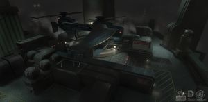 Batman Arkham Origins: Rooftops Helipad Overview by PHATandy