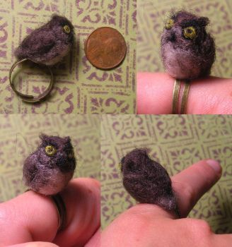 angry owl ring by Zinkyu