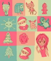 christmas drawings by chilindrini