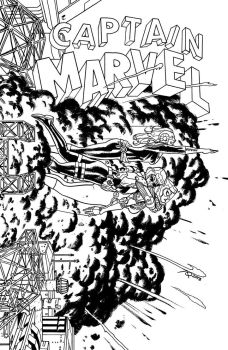 Captain Marvel, No. 16 - INKS by quin-ones