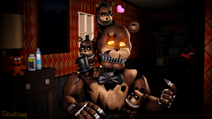 Uh...help?-Nightmare Freddy by TalonDang