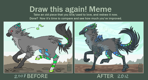 Dancing around Redraw meme by griffsnuff