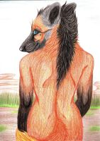 Anthro Maned Wolf Remake by galianogangster