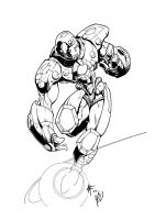Iron man by -adam- inked by gz12wk