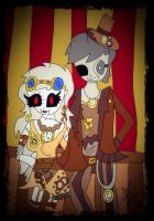 .:Dolly and Radio: steampunk:. by suriminam