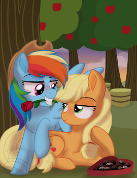 Hearts and Hooves Day - AppleDash by Tambelon