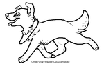 Free Border Collie lineart by KayAdoptables