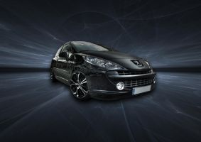 HDRR of Peugeot 207 + backgr. by Rayce185