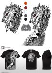 Mythical Creatures T-Shirt Werewolf Design v2 by big-green-frog